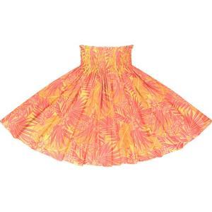 黄色のパウスカート オーキッド・ヤシ・バナナリーフ柄 2715YW フラダンス 衣装|pauskirt