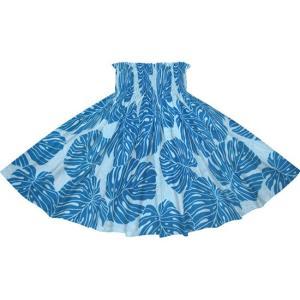 青のパウスカート モンステラ柄 2718BL フラダンス 衣装 pauskirt