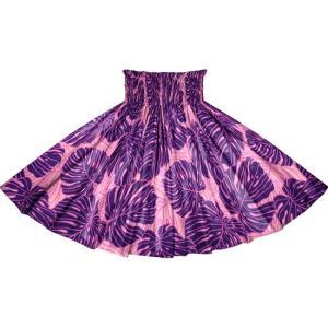 紫のパウスカート モンステラ柄 2718PP フラダンス 衣装|pauskirt