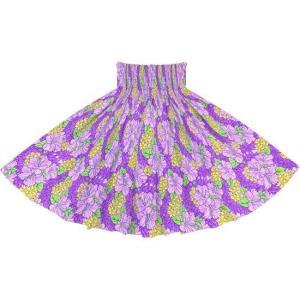 紫のパウスカート ハイビスカス・クラウンフラワー柄 2719PPPP フラダンス 衣装|pauskirt