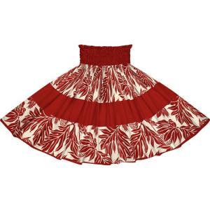 赤と紫のパウスカート ウル・ボーダー柄 2720RDPP フラダンス 衣装|pauskirt