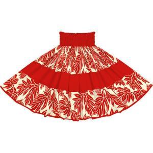 赤のパウスカート ウル・ボーダー柄 2720RDRD フラダンス 衣装|pauskirt