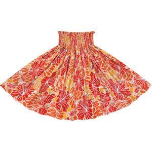 赤のパウスカート ハイビスカス・プロテア柄 2721RD フラダンス 衣装|pauskirt