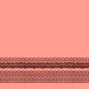 ピンクのハワイアンファブリック タパ・カヒコ・ボーダー柄 fab-2724Pi 【4yまでメール便可】|pauskirt