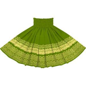 緑のパウスカート タパ・カヒコ・ボーダー柄 2724GN フラダンス 衣装|pauskirt