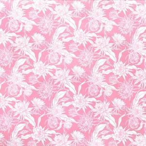 ピンクのハワイアンファブリック ナイトブルーミングセレウス柄 fab-2725Pi 【4ヤードまでメール便可】 pauskirt