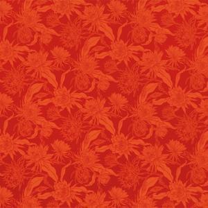 赤のハワイアンファブリック ピタヤ柄 fab-2725RD 【4yまでメール便可】|pauskirt