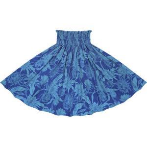 青のパウスカート ピタヤ柄 2725BLBL フラダンス 衣装 pauskirt