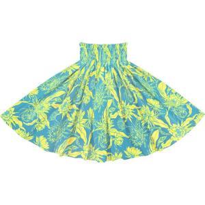 青と黄色のパウスカート ピタヤ柄 2725BLYW フラダンス 衣装 pauskirt