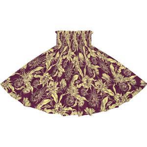紫のパウスカート ピタヤ柄 2725PP フラダンス 衣装|pauskirt