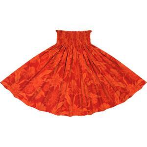 赤のパウスカート ピタヤ柄 2725RD フラダンス 衣装|pauskirt