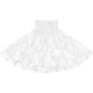 白のパウスカート ピタヤ柄 2725WH フラダンス 衣装|pauskirt