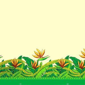 クリーム色のハワイアンファブリック バードオブパラダイス柄 fab-2726CR 【4yまでメール便可】|pauskirt