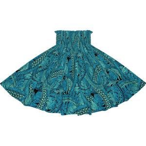 青のパウスカート シダ・トライバル柄 2727BL フラダンス 衣装 pauskirt