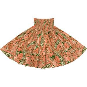 ピンクと緑のパウスカート シダ・トライバル柄 2727PiGN フラダンス 衣装|pauskirt