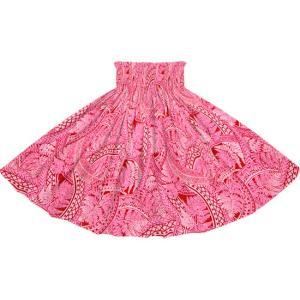 ピンクと紫のパウスカート シダ・トライバル柄 2727PiPP フラダンス 衣装|pauskirt