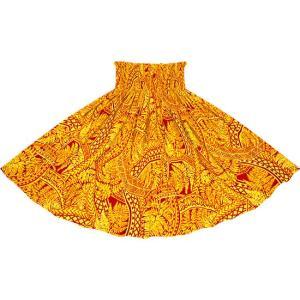 黄色のパウスカート シダ・トライバル柄 2727YW フラダンス 衣装|pauskirt