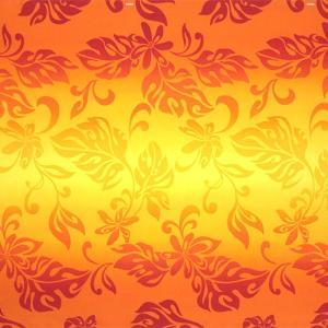 オレンジのハワイアンファブリック ティアレ・グラデーション柄 fab-2728OR 【4yまでメール便可】|pauskirt