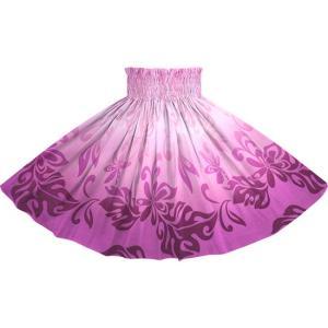 紫のパウスカート ティアレ・グラデーション柄 2728PP フラダンス 衣装|pauskirt
