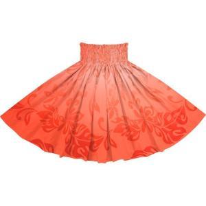 赤のパウスカート ティアレ・グラデーション柄 2728RD フラダンス 衣装|pauskirt