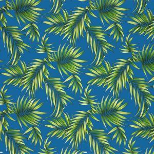 青のハワイアンファブリック ヤシ柄 fab-2729BL 【4yまでメール便可】|pauskirt