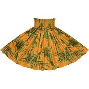 オレンジのパウスカート ヤシ柄 2729OR フラダンス 衣装|pauskirt