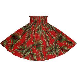 赤のパウスカート ヤシ柄 2729RD フラダンス 衣装|pauskirt