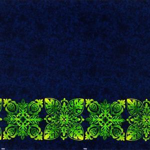 青のハワイアンファブリック キルト柄 fab-2730BL 【4yまでメール便可】|pauskirt