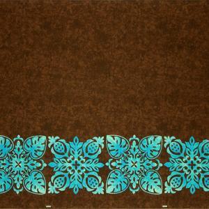 茶色のハワイアンファブリック キルト柄 fab-2730BR 【4yまでメール便可】|pauskirt