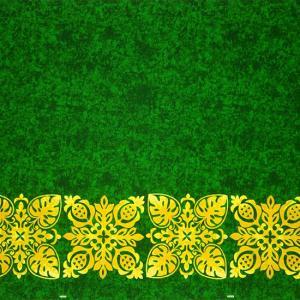 緑のハワイアンファブリック キルト柄 fab-2730GN 【4yまでメール便可】|pauskirt