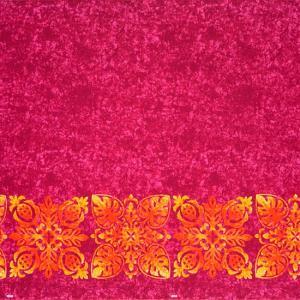 ピンクのハワイアンファブリック キルト柄 fab-2730Pi 【4yまでメール便可】|pauskirt