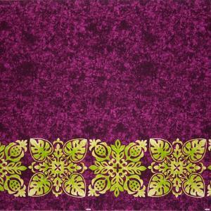 紫のハワイアンファブリック キルト柄 fab-2730PP 【4yまでメール便可】|pauskirt