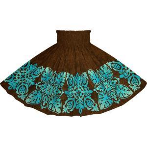 茶色のパウスカート キルト柄 2730BR フラダンス 衣装|pauskirt