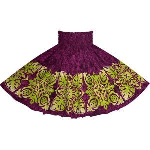 紫のパウスカート キルト柄 2730PP フラダンス 衣装|pauskirt