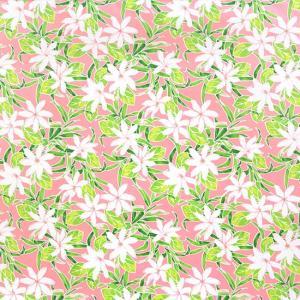 ピンクのハワイアンファブリック ティアレ柄 fab-2731Pi 【4yまでメール便可】|pauskirt