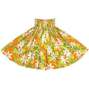 オレンジのパウスカート ティアレ柄 2731OR フラダンス 衣装|pauskirt