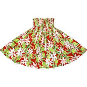 赤のパウスカート ティアレ柄 2731RD フラダンス 衣装|pauskirt