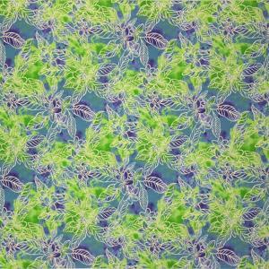 青のハワイアンファブリック プルメリア柄 fab-2733BL 【4yまでメール便可】|pauskirt