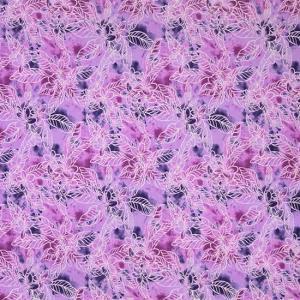 紫のハワイアンファブリック プルメリア柄 fab-2733PP 【4yまでメール便可】|pauskirt