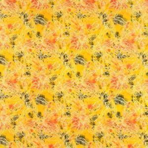黄色のハワイアンファブリック プルメリア柄 fab-2733YW 【4yまでメール便可】|pauskirt
