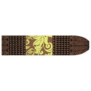茶色のパウスカートケース モンステラ・プルメリア・タパ柄 pcase-2735BR 【メール便可】|pauskirt