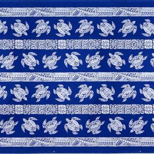 青のハワイアンファブリック ホヌ・カヒコ柄 fab-2739BL 【4yまでメール便可】|pauskirt