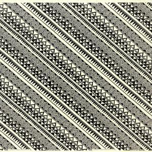 クリーム色のハワイアンファブリック タパ・カヒコ柄 fab-2740CR 【4yまでメール便可】|pauskirt