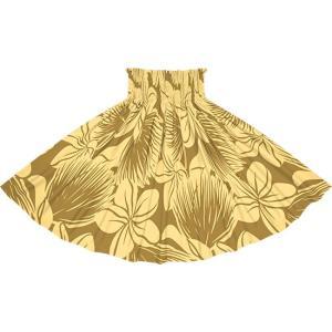 茶色のパウスカート プルメリア・レフア大柄 2742BR フラダンス 衣装|pauskirt