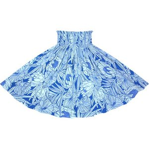 青と水色のパウスカート プロテア・ハイビスカス柄 2743BLAQ フラダンス 衣装 pauskirt
