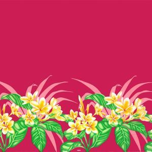 ピンクのハワイアンファブリック プルメリア柄 fab-2745Pi 【4yまでメール便可】|pauskirt