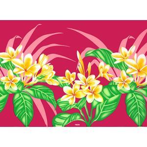 ピンクのハワイアンファブリック プルメリア柄 fab-2745Pi 【4yまでメール便可】|pauskirt|02