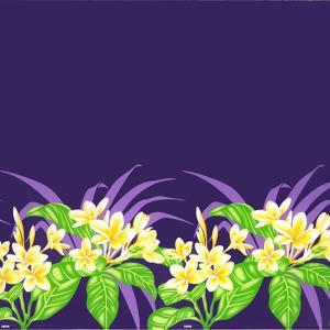 紫のハワイアンファブリック プルメリア柄 fab-2745PP 【4yまでメール便可】|pauskirt