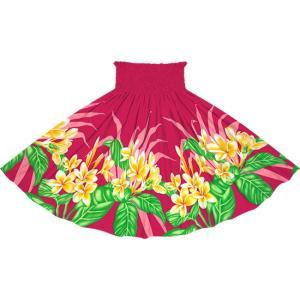 ピンクのパウスカート プルメリア柄 2745Pi フラダンス 衣装|pauskirt