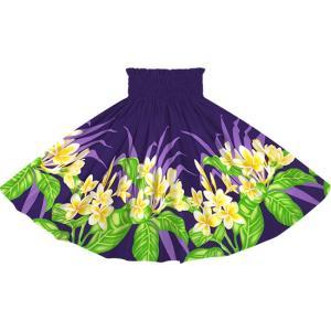 紫のパウスカート プルメリア柄 2745PP フラダンス 衣装|pauskirt
